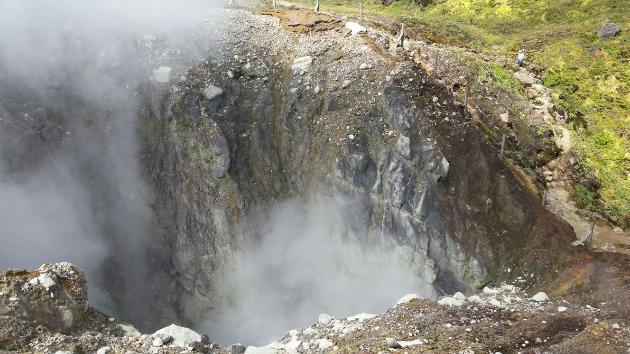 Cratère Sud Massif du Volcan la Soufrière Archipel de la Guadeloupe